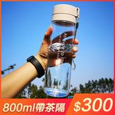 水杯 大容量健身運動水杯子塑料太空男女學生刻度便攜簡約夏天防摔水瓶