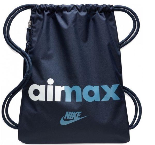 nike airmax 抽繩 束口袋 束口後背包 休閒包 後背包  BA5431-451 藍色