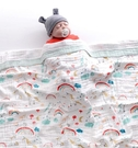 兒童浴巾 浴巾純棉紗布超柔吸水新生兒蓋毯初生寶寶洗澡包被兒童毛巾被【快速出貨八折下殺】