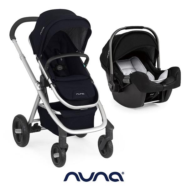 【nuna 官方旗艦店】IVVI SAVI手推車-深藍色+PIPA提籃汽座-黑色