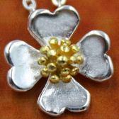 925純銀項鍊-四葉草太陽花造型迷人唯美流行女墜子銀飾73y41【巴黎精品】