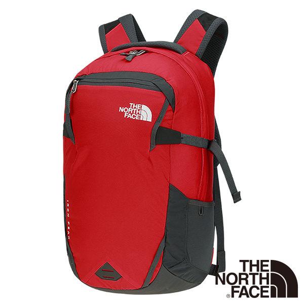 The North Face 28L 15吋電腦背包-紅/瀝灰 NF0A2RD765J-AA【GO WILD】