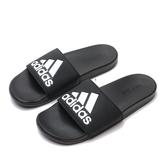 ADIDAS 拖鞋 ADILETTE COMFORT 黑 軟Q 運動拖 男(布魯克林) CG3425