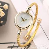 女錶小錶盤防水簡約文藝復古鏈條氣質時尚少女手錶女少女心潮流『CR水晶鞋坊』