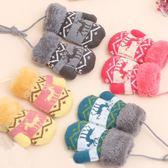 秋冬季兒童加絨加厚保暖手套