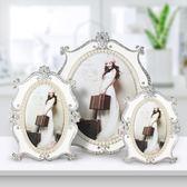 歐式相框擺臺奢華6寸7寸10寸珍珠相框創意婚紗照片框桌擺WL3083【衣好月圓】TW