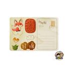 【收藏天地】印章明信片*森林小狐 ∕  印章 擺飾 送禮 趣味 文具 創意 觀光 記念品