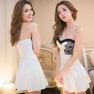 洋裝   小禮服  性感夜店女裝露背顯瘦公主蓬蓬裹胸連身裙短款抹胸