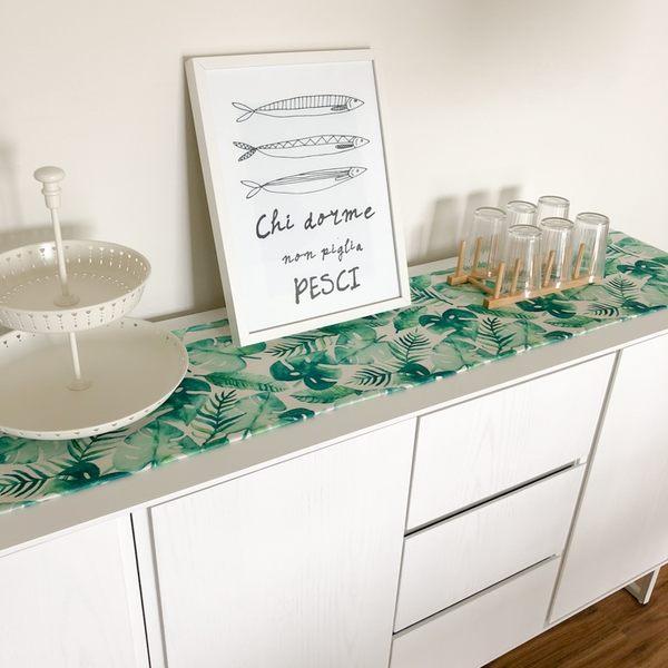 時尚可愛空間餐桌布 茶几布 隔熱墊 鍋墊 杯墊 餐桌巾桌旗572 (30*160cm)