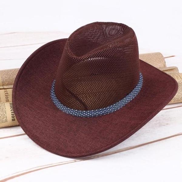 全場九五折 春夏季網子西部牛仔帽男士女士戶外潮 大沿休閑遮陽旅游牛仔帽