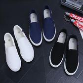 豆豆鞋老北京布鞋休閒春季男士工作帆布鞋學生韓版一腳蹬懶人豆豆潮鞋 【時尚新品】