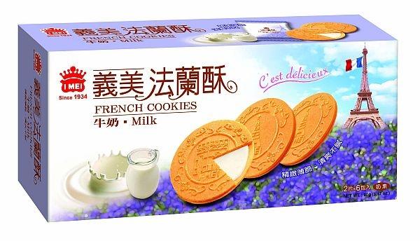 義美法蘭酥 牛奶90g
