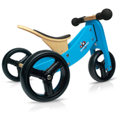 Kinderfeets 美國木製平衡滑步車/學步車-初心者三輪系列 (藍勇士)