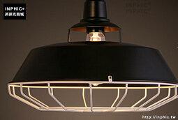 INPHIC- 工業風格復古吊燈美式創意咖啡館酒吧吧台鍋蓋鳥籠單頭吊燈-L款_S197C
