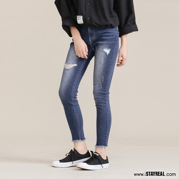 STAYREAL 簡單生活Skinny fit丹寧褲