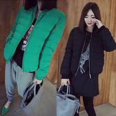 【韓國KW】(預購)復古顯瘦棒球外套