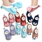 立體動物寶寶襪  秋冬保暖止滑童襪 珊瑚絨嬰兒襪 CA1214 好娃娃