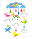 【收藏天地】創意生活*歡樂串串掛飾手作DIY-彩虹雲鳥