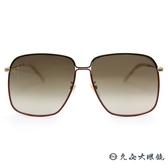 GUCCI 墨鏡 GG0394S 003 (紅綠) 時尚大框 太陽眼鏡 久必大眼鏡