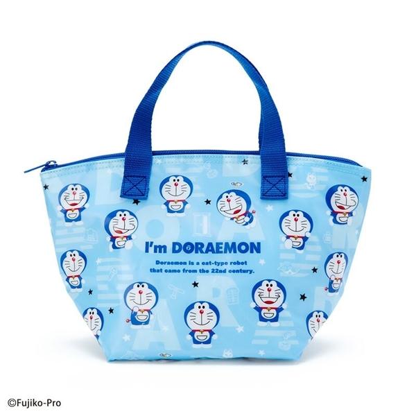 小禮堂 哆啦A夢 防水保冷便當袋 午餐袋 保冷提袋 保溫袋 野餐袋 (藍 滿版) 4550337-49489