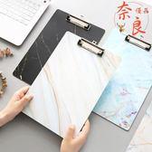 店長推薦▶大理石冷淡風系列木質板夾A4書寫板文件夾板夾紙速寫墊板
