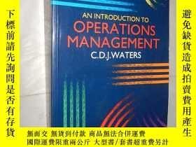 二手書博民逛書店An罕見Introduction to Operations M