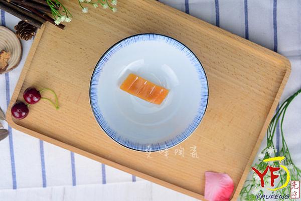 【堯峰陶瓷】【日本美濃燒】彩虹十草 日大平碗 圓缽/碗 線條紋