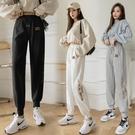 運動褲 加長運動褲2021新款春薄款高個子白色束腳運動褲高品質衛褲哈倫褲 618購物節