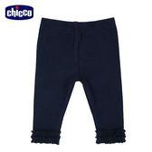 chicco-童話系列-荷葉褲口內搭長褲-青
