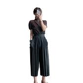 短袖T恤-高彈力薄款雪紡高領褶皺女上衣5色73zs44[巴黎精品]
