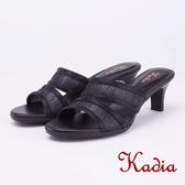 kadia.氣質水鑽造型高跟拖鞋(9110-95黑色)