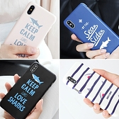 韓國 小鯊魚 硬殼 手機殼│iPhone 6 6S 7 8 Plus X XS MAX XR 11 Pro LG G7 G8 V40 V50│z8515