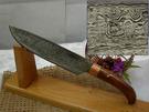 郭常喜與興達刀具--積層花紋鋼手工製作大獵刀(60103)