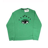【KENZO】眼睛長袖上衣(綠色) F655SW0554XC 57