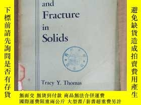 二手書博民逛書店plastic罕見flow and fracture in solids(P1178)Y173412