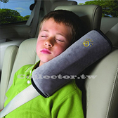 兒童汽車安全帶護肩枕套 車用可愛加長加厚毛絨睡覺枕頭車飾 用品