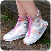 可愛防雨鞋套女士加厚底防滑耐磨雨天鞋防水鞋套腳套雨 優尚良品