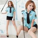 女警察制服 變裝派對角色扮演 藍色前扣式...
