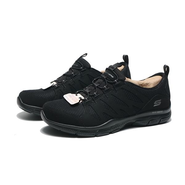 SKECHERS 慢跑鞋 GRATIS GRATITUDE 全黑 假鞋帶 襪套式 女(布魯克林) 104222BBK
