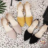 2018夏季新款平底韓國軟妹包頭涼鞋女學生正韓百搭簡約淺口女鞋子 全館免運