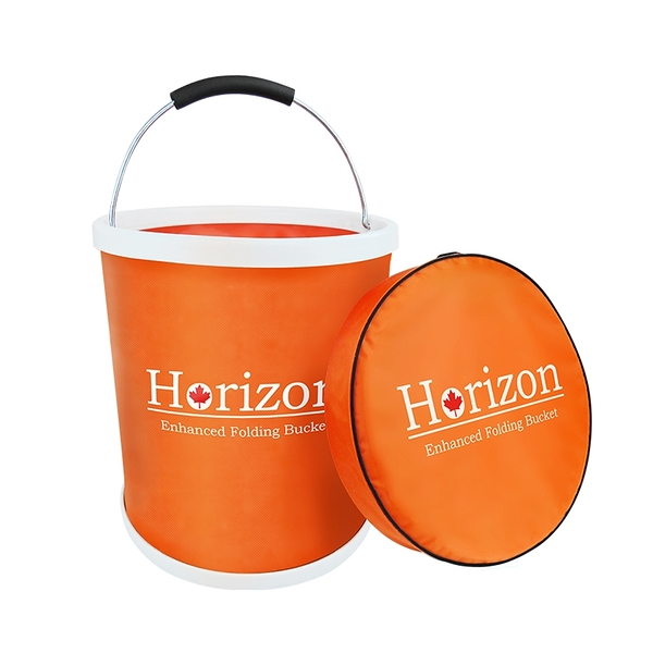 Horizon強化折疊水桶13L(露營/戶外炊具/野餐/野營裝水/登山/牛津布桶)