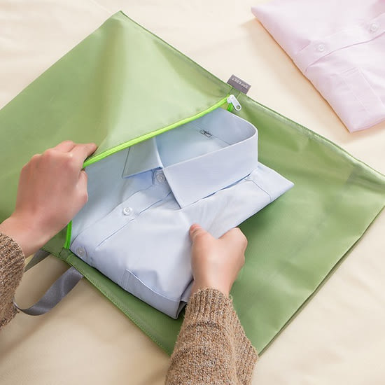 ✭米菈生活館✭【J48】摺疊衣物收納包 牛津布 出差 旅行 整理 便攜 防水 內衣 雜物 分類 手提