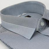 【金‧安德森】灰色變化領窄版長袖襯衫