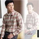 【大盤大】(S30512) 男士 全棉 純棉 口袋 法蘭絨襯衫 長袖 格紋襯衫 格子美式 父親節【L號斷貨】