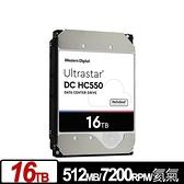 WD Ultrastar DC HC550 16TB 3.5吋 SATA 企業級硬碟(非彩盒) WUH721816ALE6L4