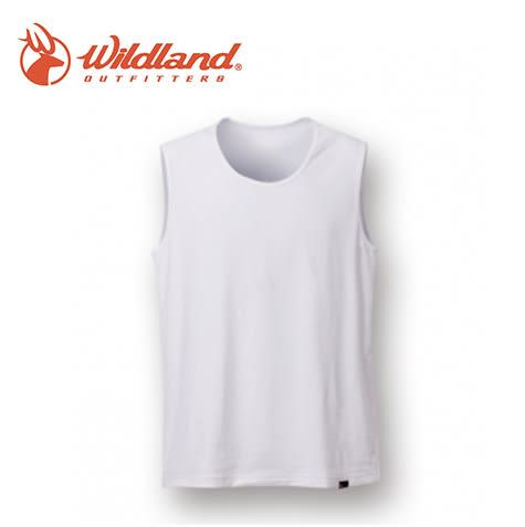 丹大戶外【Wildland】荒野 男透氣排汗無袖內衣 W1686-30 白色