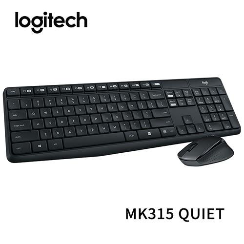 Logitech 羅技 MK315 QUIET 無線靜音鍵盤滑鼠組