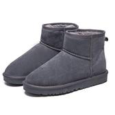 防水雪地靴男情侶面包鞋真皮保暖冬季加絨防滑女棉鞋東北大碼靴子 伊衫風尚