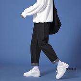 牛仔褲男春夏季薄款九分褲學生百搭休閒寬鬆直筒褲【聚物優品】