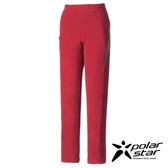 Polarstar 台灣製造 女 刷毛保暖長褲『磚紅』MIT│排汗│透氣│保暖│抗靜電 P16422